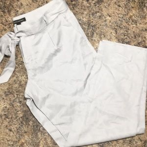 BANANA REPUBLIC NWT GRAY CROPPED DRESS PANTS SZ 4